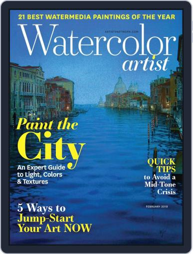 Watercolor Artist (Digital) February 1st, 2019 Issue Cover