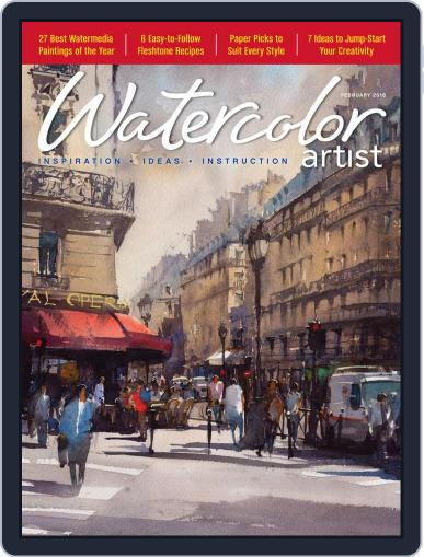 Watercolor Artist (Digital) December 22nd, 2015 Issue Cover
