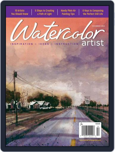 Watercolor Artist (Digital) December 1st, 2015 Issue Cover