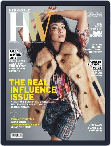 Her World Singapore (Digital) September 1st, 2019 Issue Cover