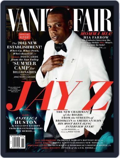 Vanity Fair (Digital) November 1st, 2013 Issue Cover