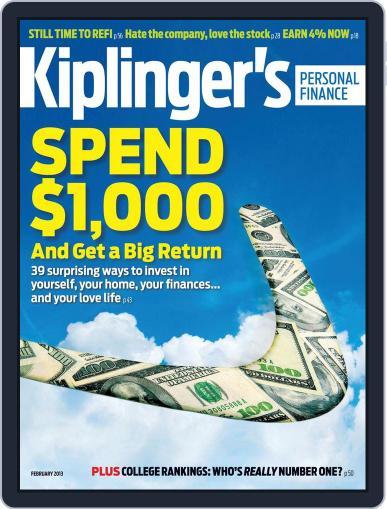 Kiplinger's Personal Finance (Digital) December 19th, 2012 Issue Cover