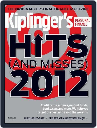 Kiplinger's Personal Finance (Digital) October 24th, 2012 Issue Cover