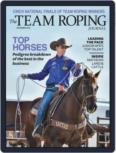 The Team Roping Journal (Digital) December 1st, 2018 Issue Cover