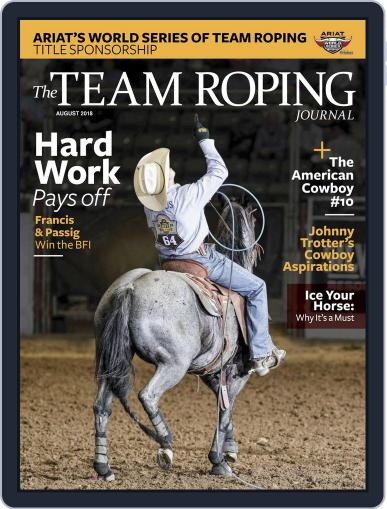 The Team Roping Journal (Digital) August 1st, 2018 Issue Cover