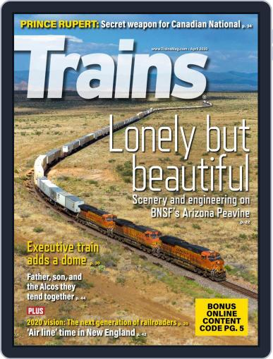 Trains (Digital) April 1st, 2020 Issue Cover