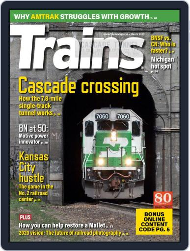 Trains (Digital) March 1st, 2020 Issue Cover