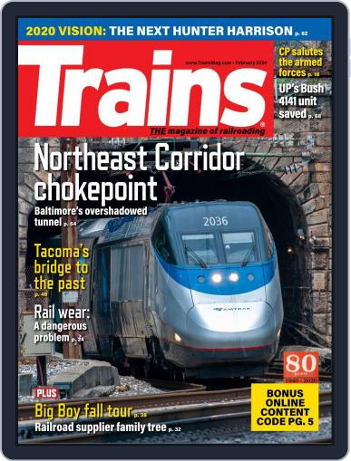 Trains (Digital) February 1st, 2020 Issue Cover