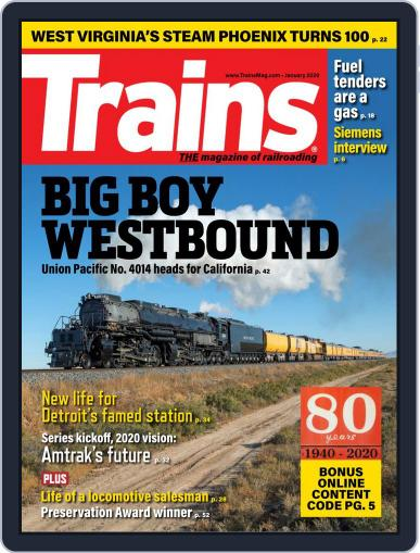 Trains (Digital) January 1st, 2020 Issue Cover