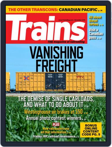 Trains (Digital) November 1st, 2019 Issue Cover
