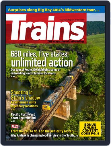 Trains (Digital) October 1st, 2019 Issue Cover