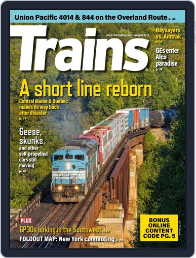 Trains (Digital) August 1st, 2019 Issue Cover