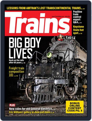 Trains (Digital) July 1st, 2019 Issue Cover