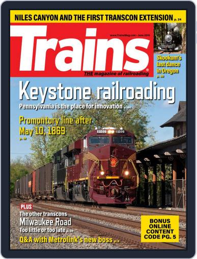 Trains (Digital) June 1st, 2019 Issue Cover