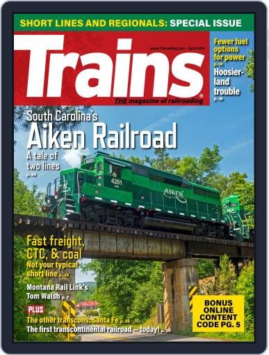 Trains (Digital) April 1st, 2019 Issue Cover