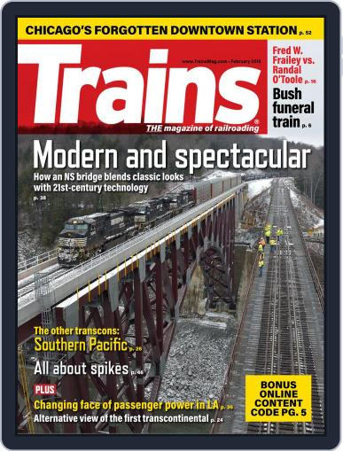 Trains (Digital) February 1st, 2019 Issue Cover