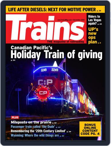 Trains (Digital) December 1st, 2018 Issue Cover