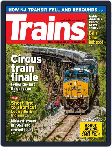 Trains (Digital) August 1st, 2017 Issue Cover