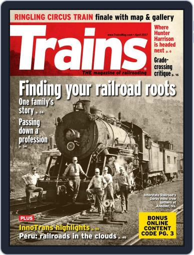 Trains (Digital) April 1st, 2017 Issue Cover