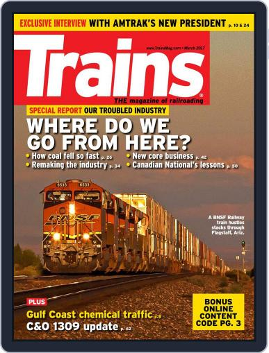 Trains (Digital) March 1st, 2017 Issue Cover