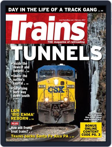 Trains (Digital) February 1st, 2017 Issue Cover