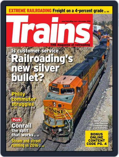 Trains (Digital) December 1st, 2016 Issue Cover