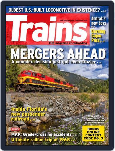 Trains (Digital) November 1st, 2016 Issue Cover