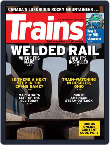 Trains (Digital) February 1st, 2016 Issue Cover
