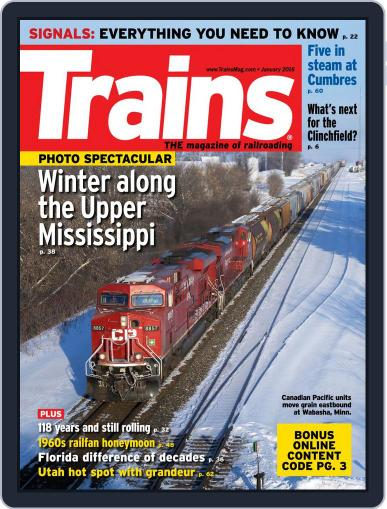 Trains (Digital) January 1st, 2016 Issue Cover