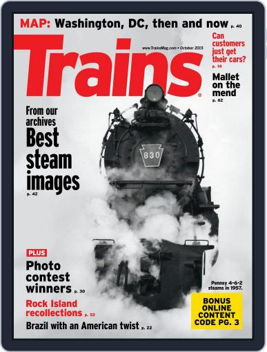 Trains (Digital) October 1st, 2015 Issue Cover