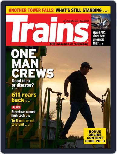 Trains (Digital) August 1st, 2015 Issue Cover