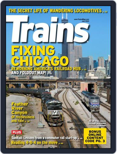 Trains (Digital) July 1st, 2015 Issue Cover