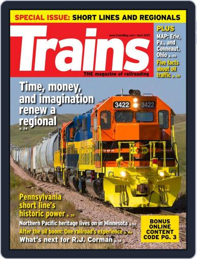 Trains (Digital) April 1st, 2015 Issue Cover