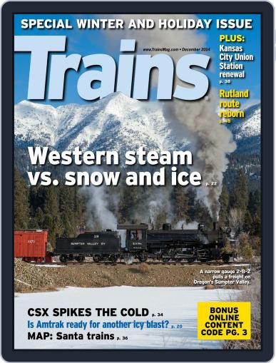 Trains (Digital) December 1st, 2014 Issue Cover