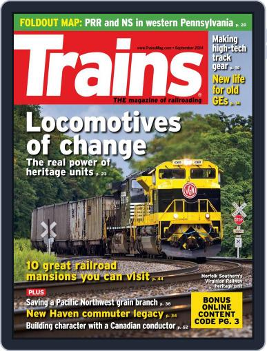 Trains (Digital) July 25th, 2014 Issue Cover