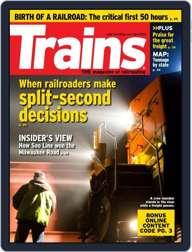 Trains (Digital) February 23rd, 2013 Issue Cover