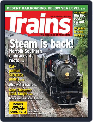 Trains (Digital) January 26th, 2013 Issue Cover