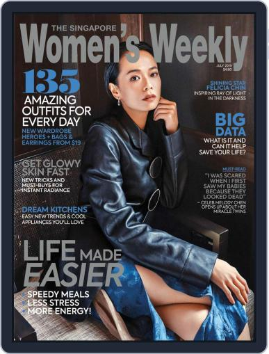 Singapore Women's Weekly July 1st, 2019 Digital Back Issue Cover