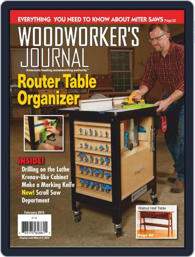 Woodworker's Journal (Digital) February 1st, 2019 Issue Cover