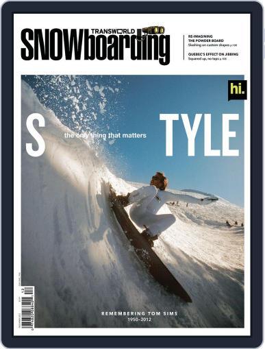 Transworld Snowboarding (Digital) October 20th, 2012 Issue Cover