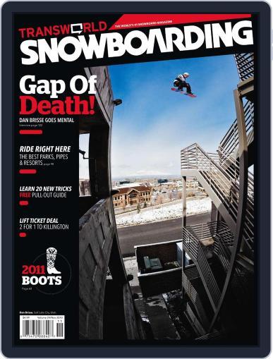 Transworld Snowboarding (Digital) September 25th, 2010 Issue Cover