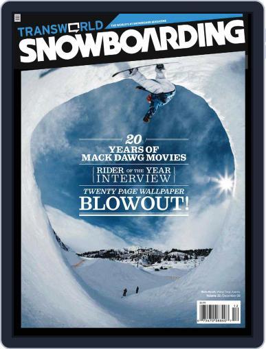 Transworld Snowboarding (Digital) October 25th, 2008 Issue Cover