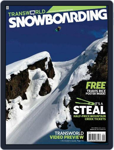 Transworld Snowboarding (Digital) July 26th, 2008 Issue Cover