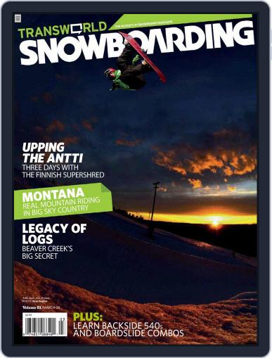 Transworld Snowboarding (Digital) January 26th, 2008 Issue Cover