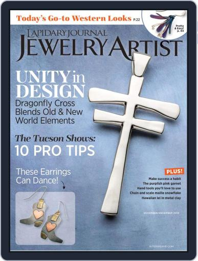 Lapidary Journal Jewelry Artist November 1st, 2019 Digital Back Issue Cover