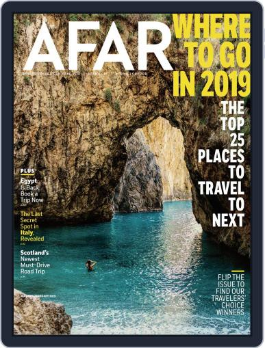 AFAR (Digital) January 1st, 2019 Issue Cover