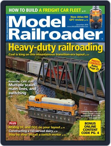 Model Railroader (Digital) December 1st, 2019 Issue Cover