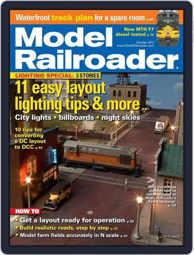 Model Railroader (Digital) August 25th, 2012 Issue Cover