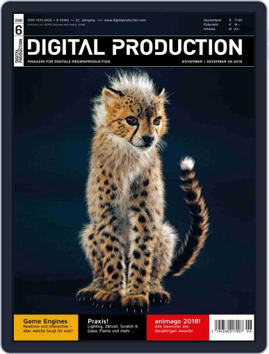 Digital Production November 1st, 2018 Issue Cover