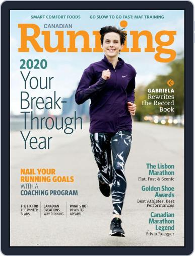 Canadian Running (Digital) January 1st, 2020 Issue Cover